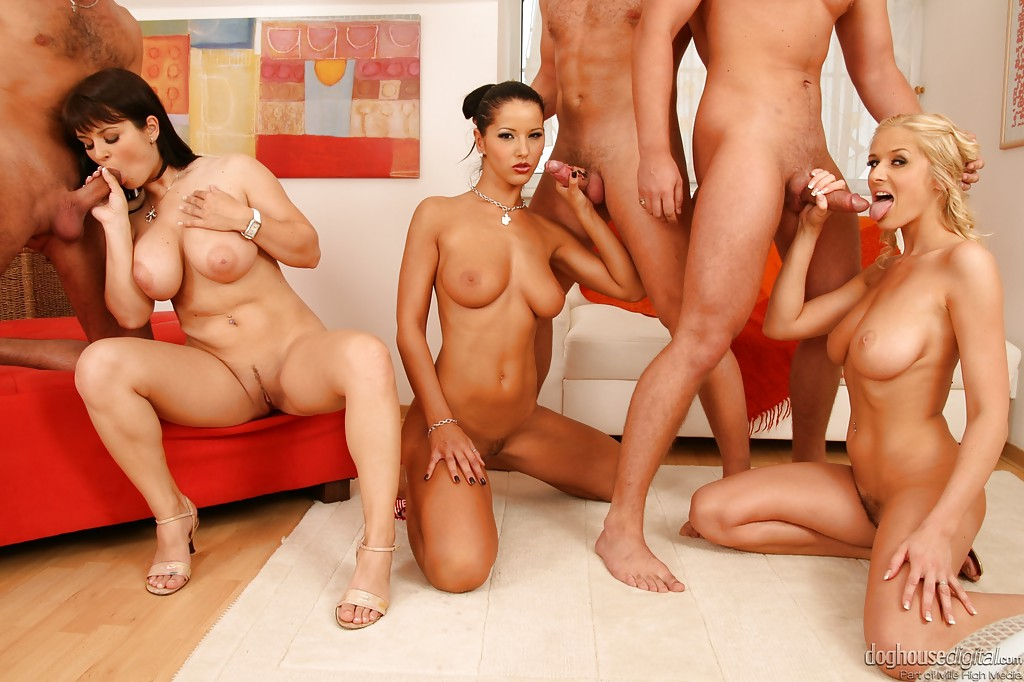 Asian Big Breasts Orgy