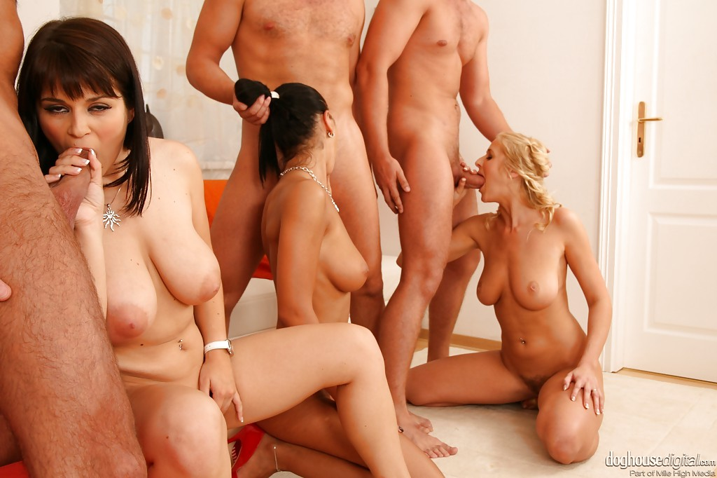 Huge Tits Group Orgy