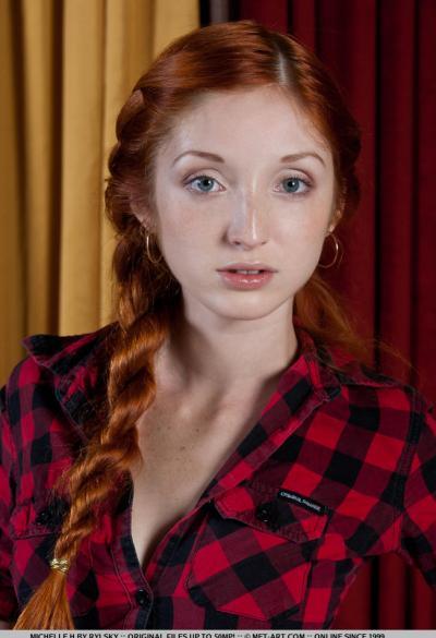 Молодая рыжая девушка 1 фото