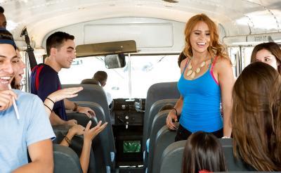 Секс в автобусе 1 фото