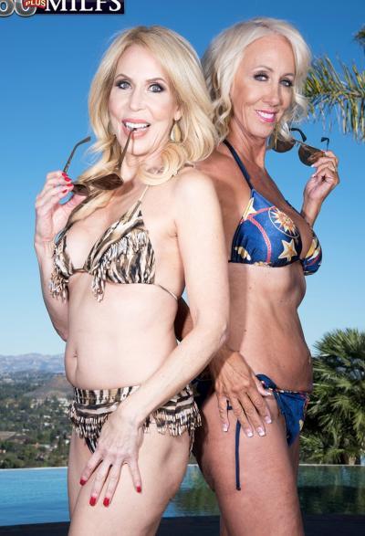 Две зрелые блондинки развлекаются с молодым самцом 2 фото