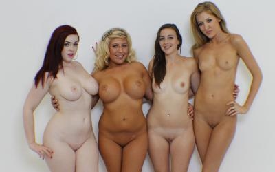 Четверо голых сексуальных девушек 10 фото