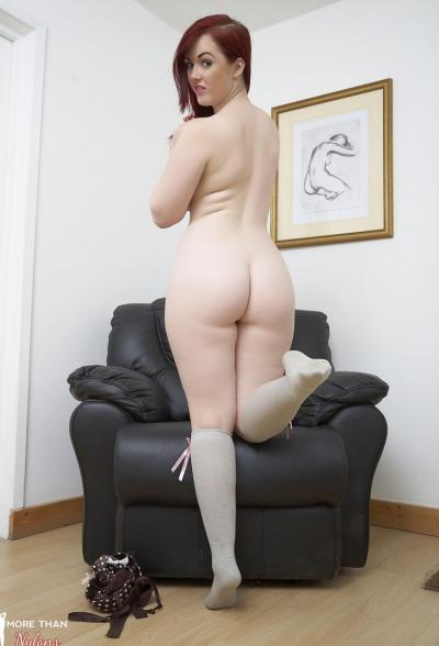 Пышная рыжая девушка Jaye Rose 7 фото